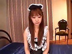 JAPANESE MAID DP INTERNAL CUMSHOT