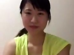 Asian college lady periscope downblouse boobs