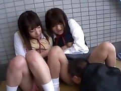 Finest Asian girl Yua Aihara, Makoto Takeuchi, Iku Sakuragi in Hottest Cunnilingus, College/Gakuseifuku JAV clip