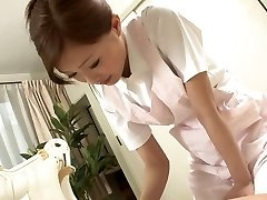 Beautiful Nurse jerks her patient's cock as a approach