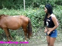 Heather Deep 4 wheeling on scary rapid quad and Pissing next to horses in the