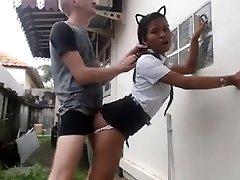 White Guy Fucks His Asian Maid