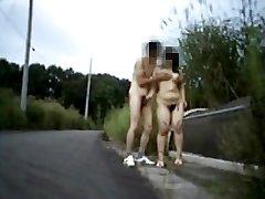 Amateur nudist duo