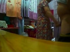 Flashing Made Asian Granny Horry
