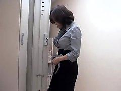 Naughty asian bitch torn up by massagist in sexy voyeur movie