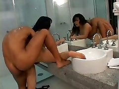 Super Hot Chinese Milf - Anal in the  Bathroom