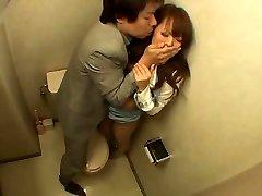 Japanese Woman Screwed in the Bathroom