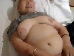 80yr old Japanese Grandmother Still Loves to Drill (Uncensored)