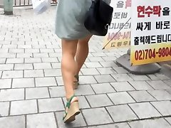 Upskirt Stairs: Super Hot Chinese With Massive Boobs