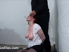 Face punished mature ### Chinas dental gagged masochist tantalizes and demeaning gaping pussy pain of old submissi