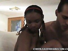 Teen Ebony Cheerleader Balled 2