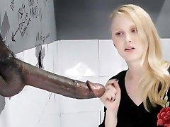 Lily Rader Deep-throats And Fucks Big Ebony Dick - Gloryhole