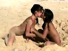 Teen on the beach - Nudist Lesbo