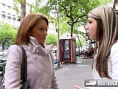 Hot Szilvia Lauren surprised by the girl-girl model agent