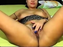 Solo masturbation and unclothing show with a mature honey