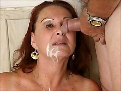 Cum faced milky Christmas grandmothers by satyriasiss