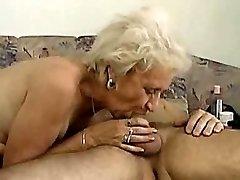 Grannie can deepthroat