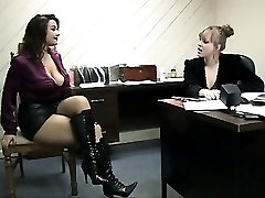 Crazy Blonde Immobilizes and Gags Her Boss