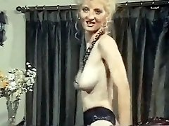 Buffalo position - vintage skinny blonde strip dance