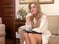 Vintage Fur Covered Mature has a Threesome and Dp in Lingerie!