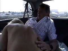 in a large car