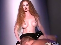 Hot redhead plumbs a guy