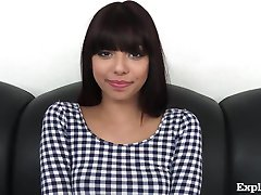 Cute 18 Year Old Latina On Casting Couch!