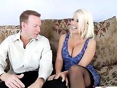 Britney Amber Licks Her Tits HD