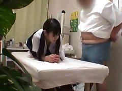 Japanese schoolgirl (18+) fucked during medical exam