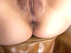 Hairy asian nurse anally toyed and fucked
