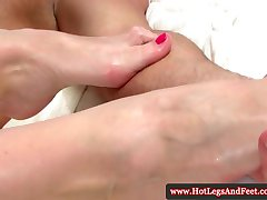 Kathia Nobili teasing with her feet