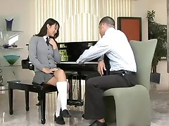 Cute asian schoolgirl Evelyn Lin passionately fucks