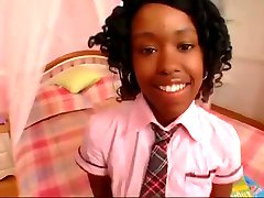 Petite Black Teen Student love BBc surprise