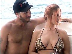 Big Tit Redhead FMFM Boat Foursome