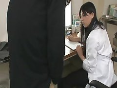 Hot Asian Doctor Handjob
