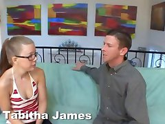 Blonde Four Eyed Nerd Tabitha Needs Cock In Her Ass