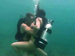 Scuba Diving Couple Having Sex Underwater