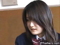 Amazing Asian schoolgirl shows off her part1