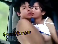 Couple from mumbai india enjoying in the car sex - teen99