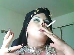 Goddess Bella Donna,a bbw smoking gypsy Queen.