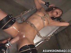 Japanese bondage fucking machine