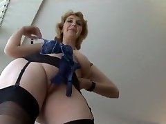 Mature British in stockings upskirt tease 1 (XED)