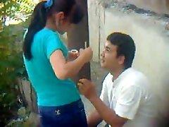 Uzbek youthful couple outdoor - Khwarezm