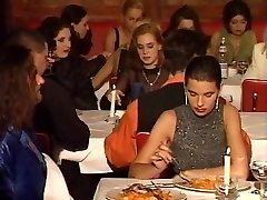 An restaurant romp in public