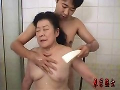 Japanese grandma enjoying sex