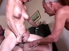 Fledgling mature cuckold threesome
