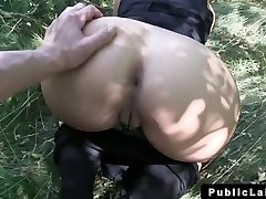 Euro blonde amateur fucks POV outdoor