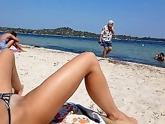 Real amateur wife showing pussy in public beach
