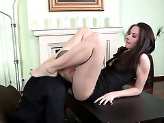 Babe footfucks for guy goo