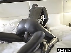 Hot adult movie star latex and cumshot